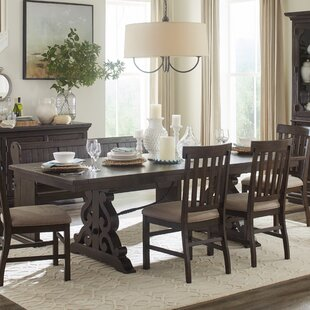 Amandier 6 Piece Solid Wood Dining Set