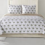 Palm Tree Reversible Quilt Set