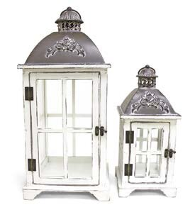 Canora Grey Decorative Metal/Wood Lantern (Set of 2)