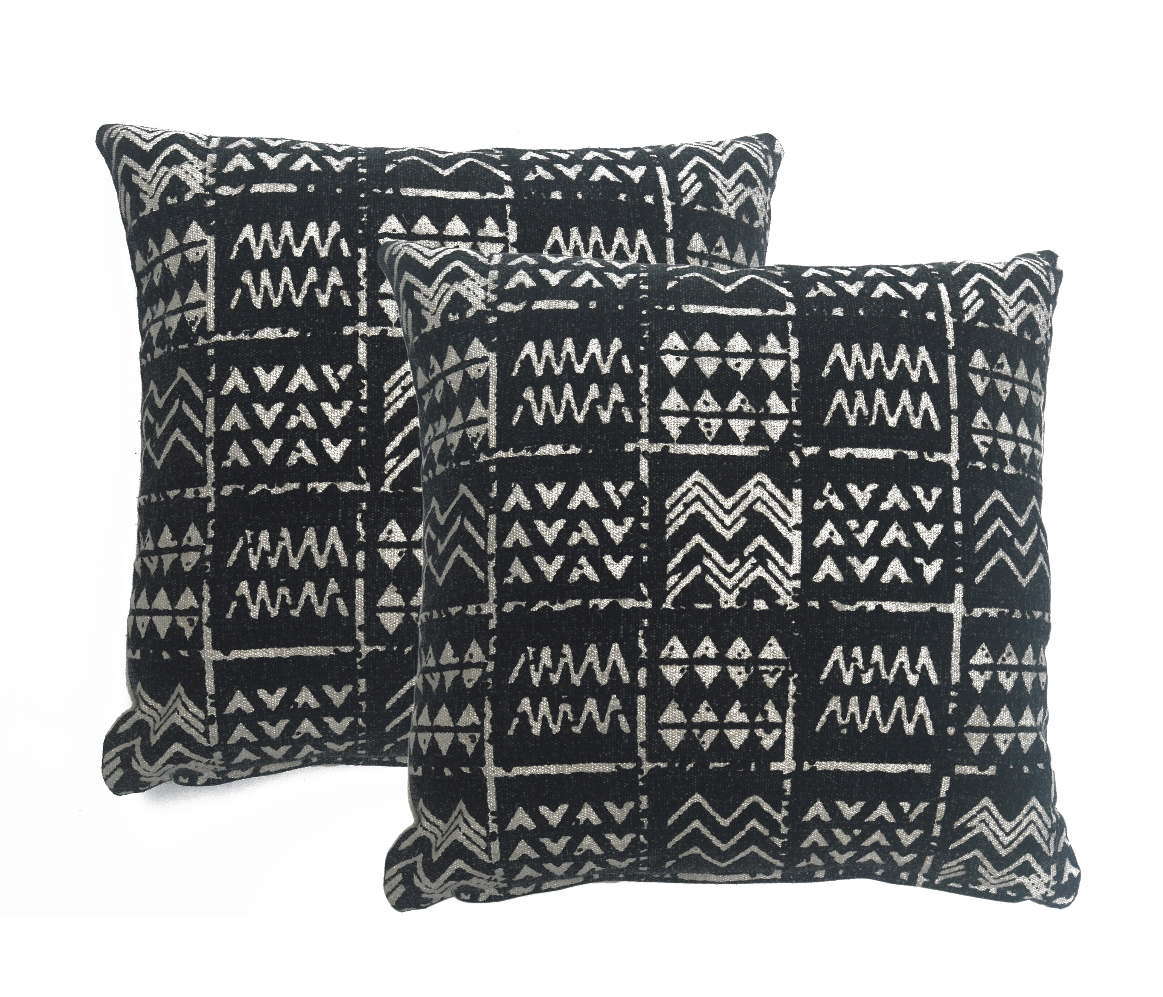 Loon Peak Delafuente Cotton Geometric 18 Throw Pillow Cover Wayfair