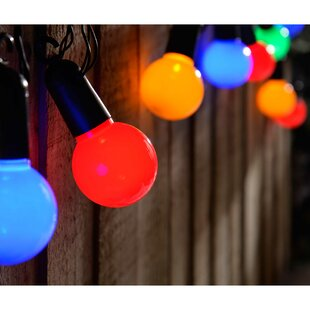 20 Multicolour Connectable Christmas Party Globe String Lights By The Seasonal Aisle