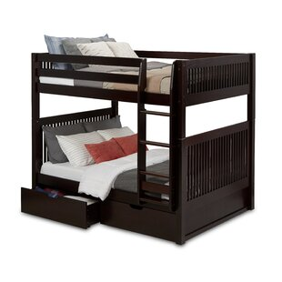 Oakwood Full Over Full Bunk Bed With Drawers by Harriet Bee Bargain