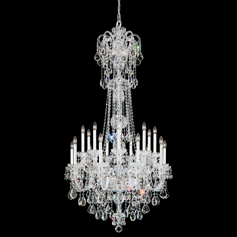 Schonbek Olde World 23 Light Candle Style Tiered Chandelier With Crystal Accents Perigold
