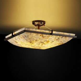 Conovan 6-Light Semi Flush Mount by Rosecliff Heights