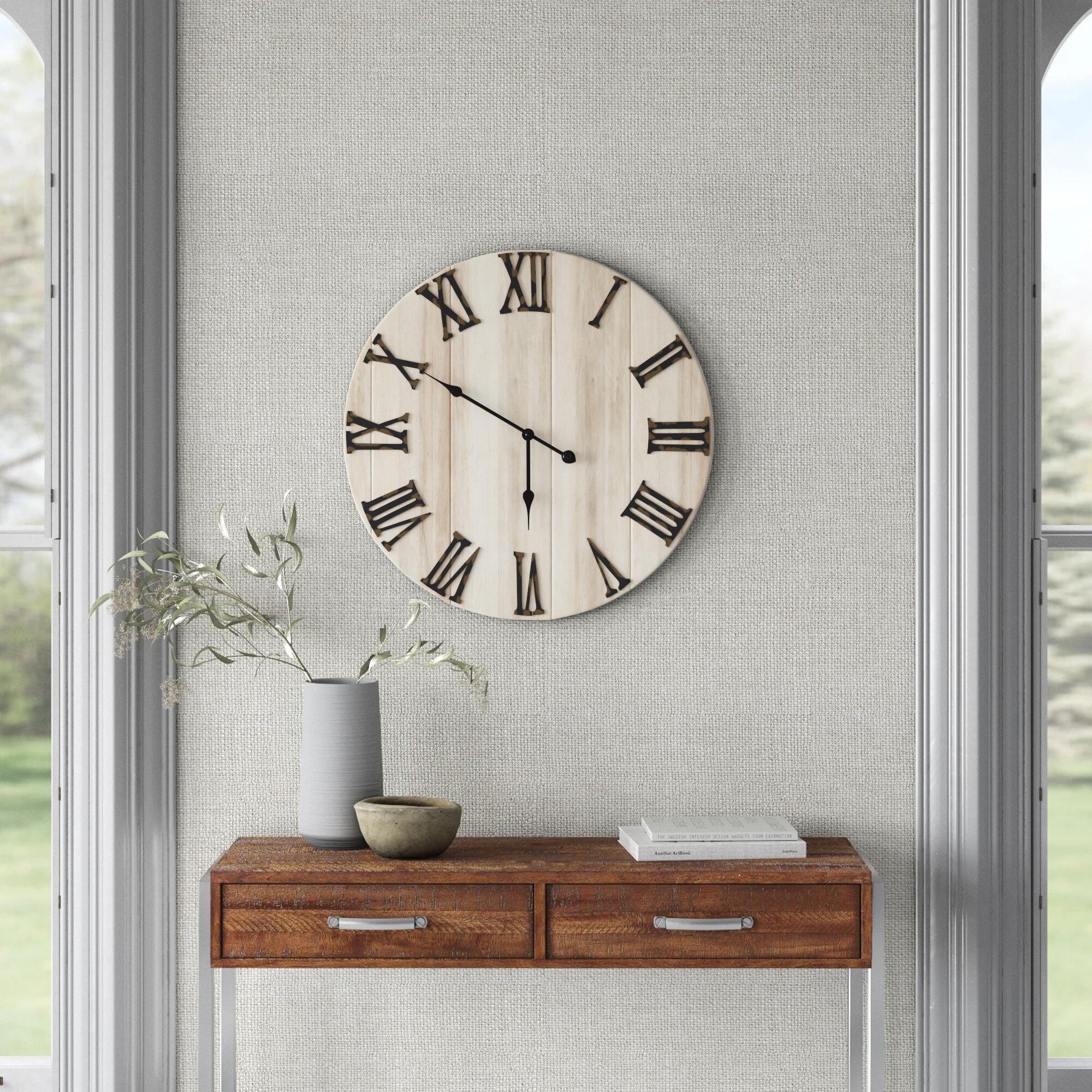 Villalobos Oversized 28 Wall Clock Reviews Joss Main