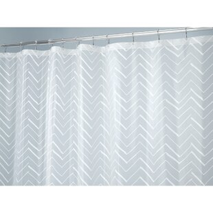 Chevron Sketched Vinyl Single Shower Curtain Liner