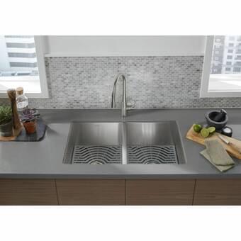 K 6626 6u Ny Kohler Langlade 33 L X 22 W Drop In Kitchen Sink Reviews Wayfair