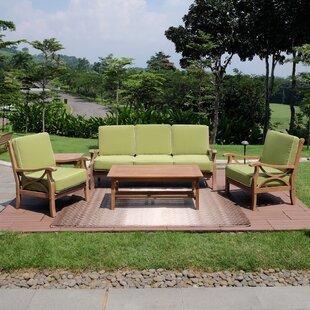 Kensington 5 Piece Teak Sofa Seating Set with Cushions
