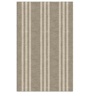 Order Scotti Stripe Hand-Tufted Wool Dark Silver/Beige Area Rug By Breakwater Bay
