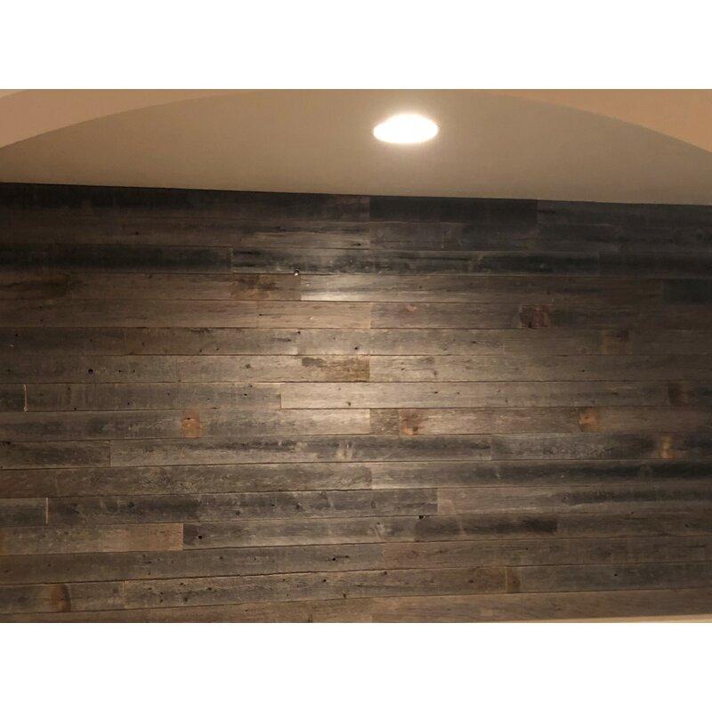 Rockin Wood 3 5 X 48 Reclaimed Solid Wood Wall Paneling In Brown Wayfair