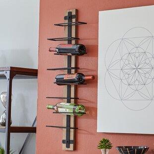 wall mounted holder rack bottle amazon racks spice vertical rustic display mount shelf wine