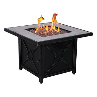 Afterglow Colton Stainless Steel Propane and Natural Gas Fire Pit Table