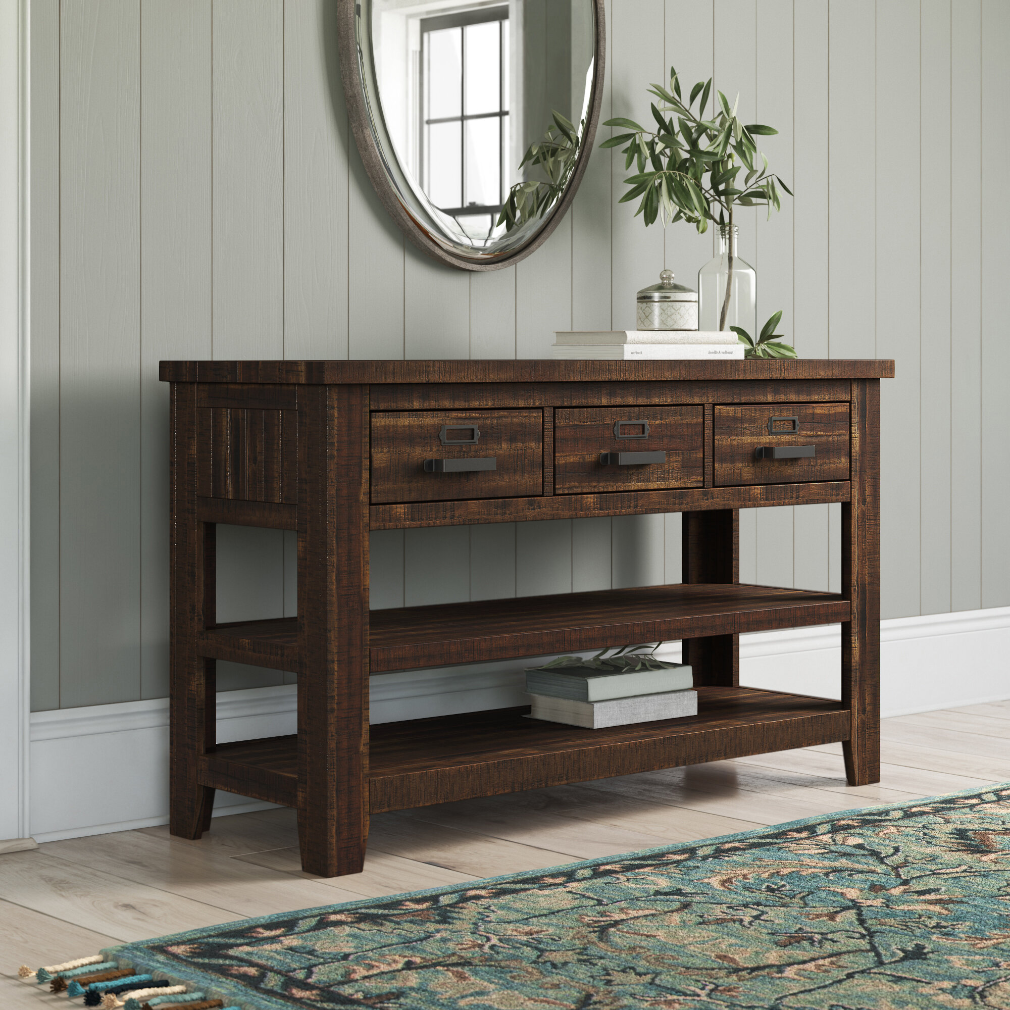 Birch Lane Loney 50 Solid Wood Console Table Reviews Wayfair