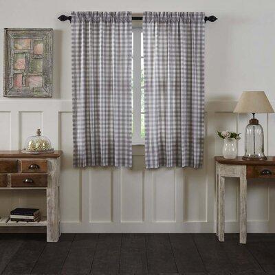 August Grove Caulder Buffalo Check Lined 100 percent Cotton Curtain Panels