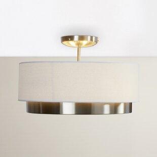 Brayden Studio Norsworthy 2-Light Semi Flush Mount