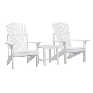 Mahler Patio Wood 3 Piece Conversation Set