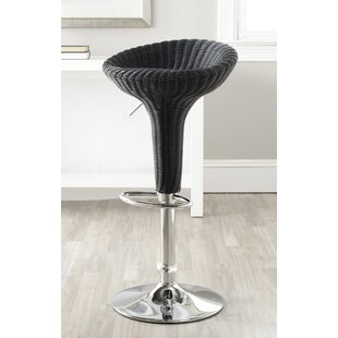 Winterburn 31.7'' Adjustable Height Swivel Bar Stool Wrought Studio