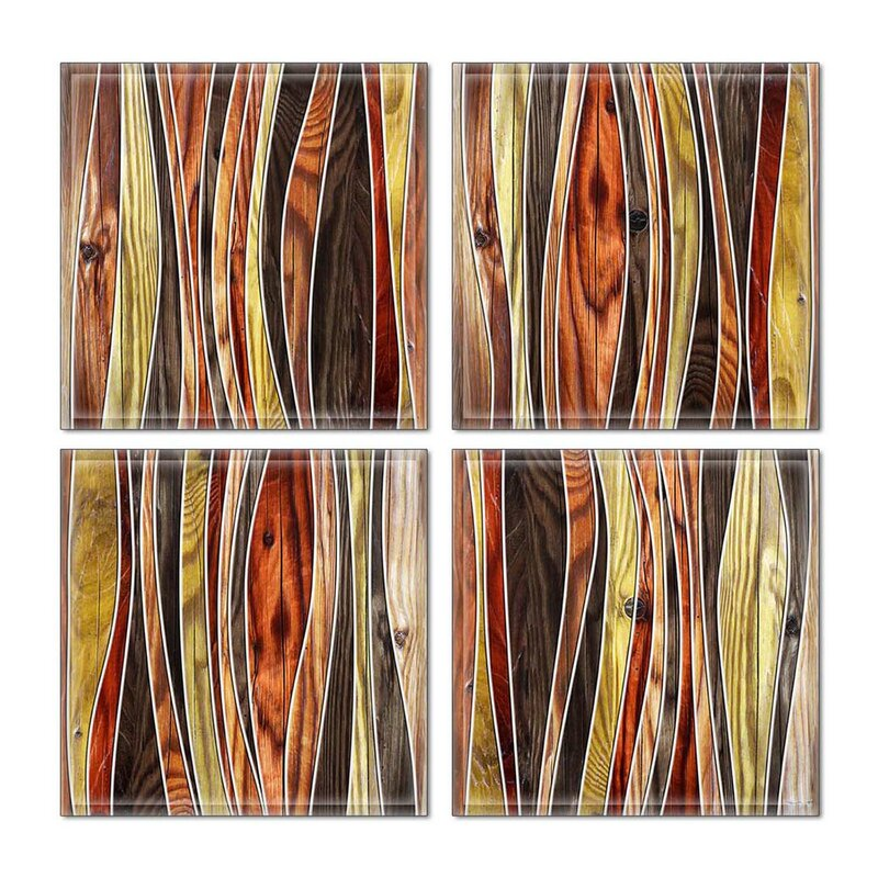Upscale Designs By Ema 6 X 6 Glass Decorative Accent Tile In Brown Red Wayfair
