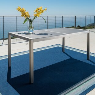 Durbin Aluminum Gray Patio Dining Table