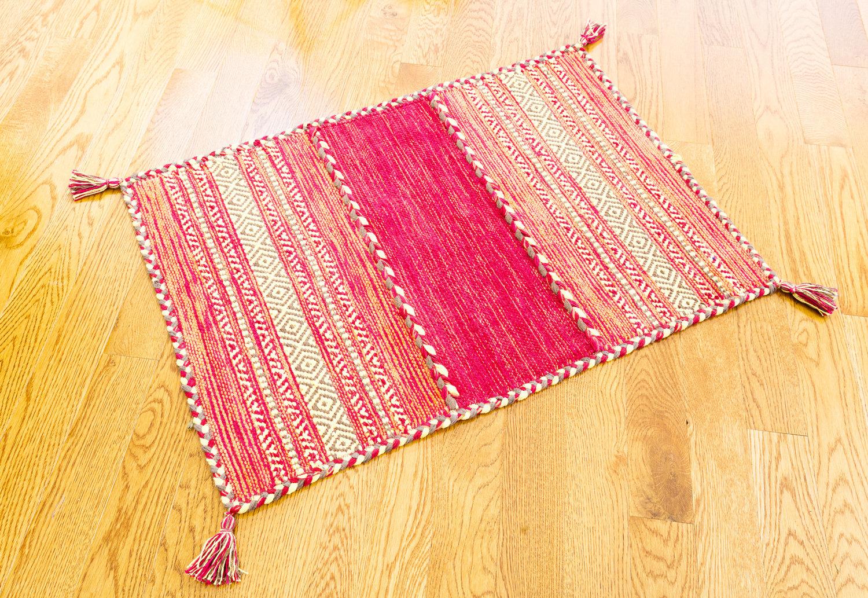 Dakota Fields Tonal Braided Tassel Plaid Hand Knotted Cotton Red Area Rug Wayfair