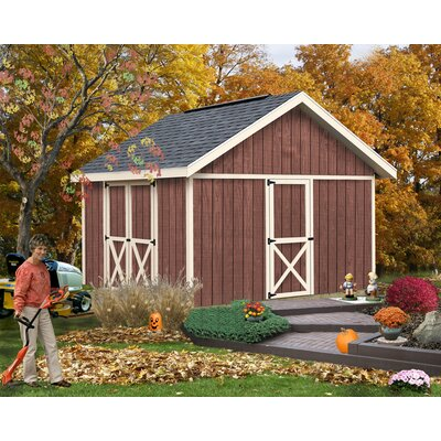 Fairview 12 ft. W x 12 ft. D Solid Wood Storage Shed Best Barns