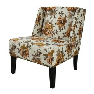 Printing Fabric Slipper Chair by Adeco Trading