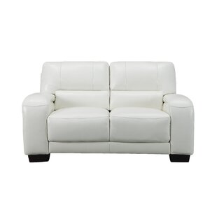 Hadsell Craft Leather Loveseat by Orren E..