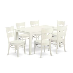 Smyrna 7 Piece Solid Wood Dining Set by C..