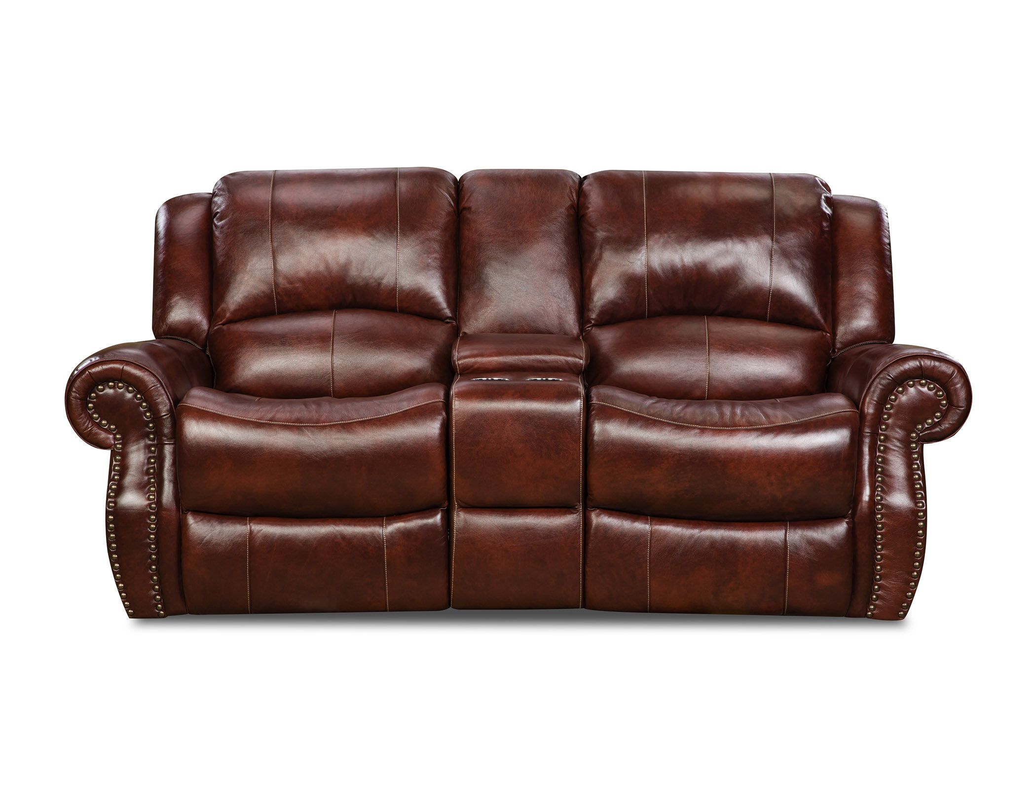 Amazing Hein Leather Reclining Loveseat Ncnpc Chair Design For Home Ncnpcorg