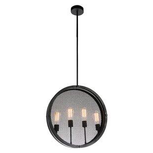 CWI Lighting Tigris 4-Light Globe Chandel..