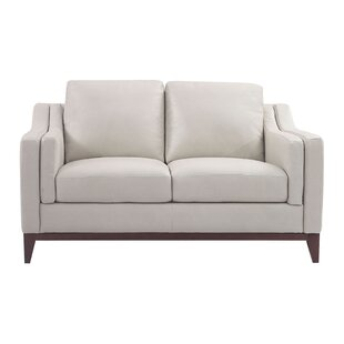 Brayden Studio Casleton Leather Loveseat