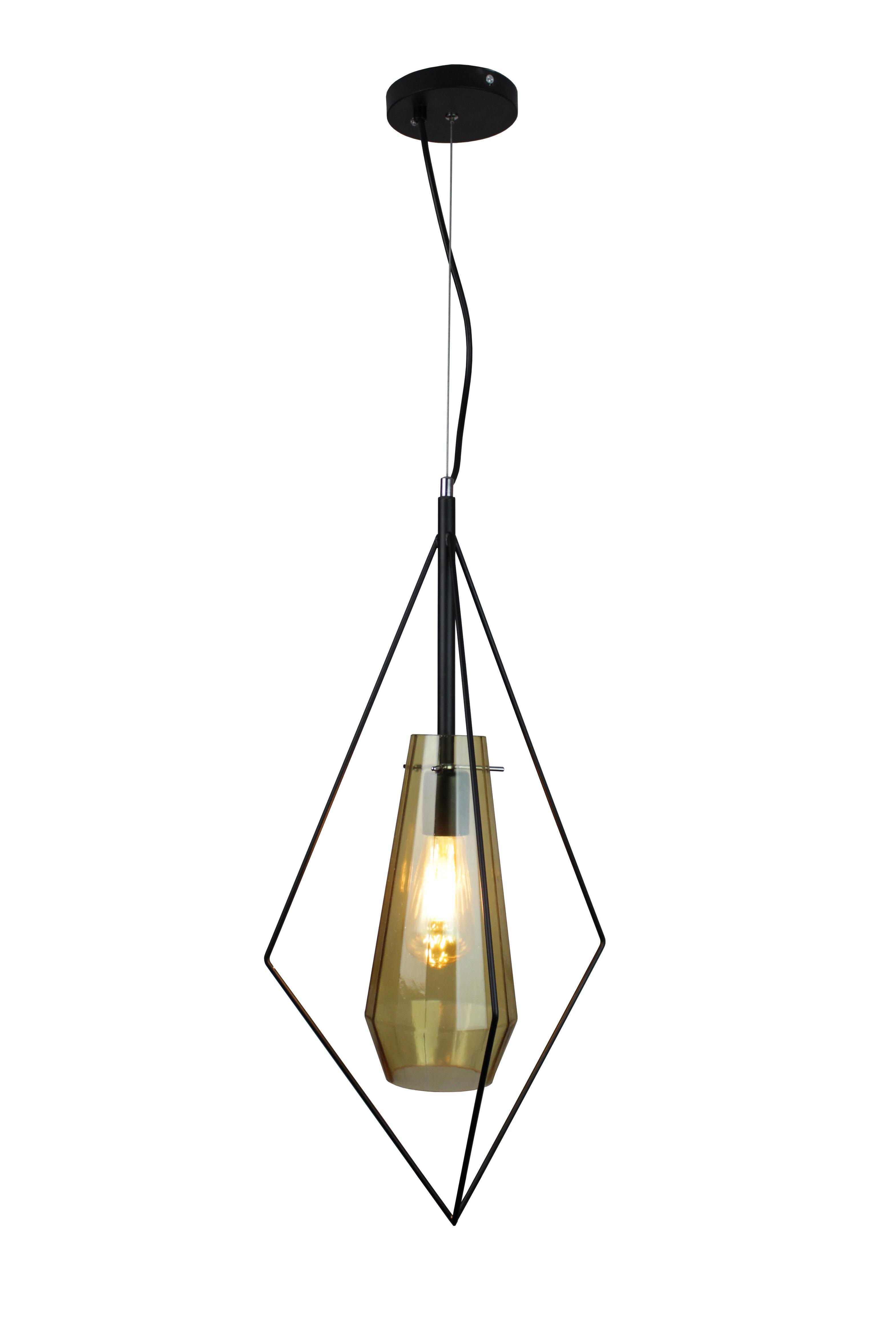 Wrought Studio Ailse 1 Light Single Geometric Pendant Wayfair