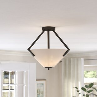 Naccarato 2-Light Semi Flush Mount by Ebern Designs