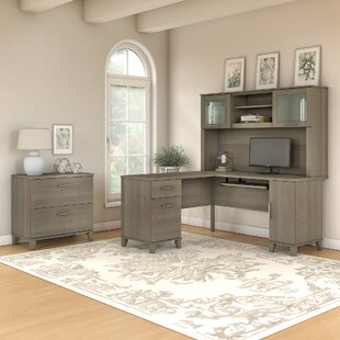 Kirchoff 3 Piece L-shaped Desk Office Suite by Ebern Designs