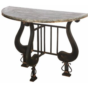 Ellettsville Antique Upgraded Demilune Console Table By Fleur De Lis Living