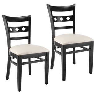 Red Barrel Studio Ewell Solid Wood Dining Chair (Set of 2)