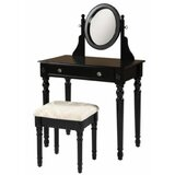 Claremore Vanity Set with Stool and Mirror by Charlton Home®