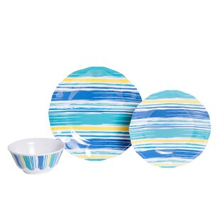 Whitson By The Sea Melamine 18 Piece Dinnerware Set, Service for 6
