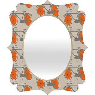 Deny Designs Mummysam Bicycles Quatrefoil Accent Mirror