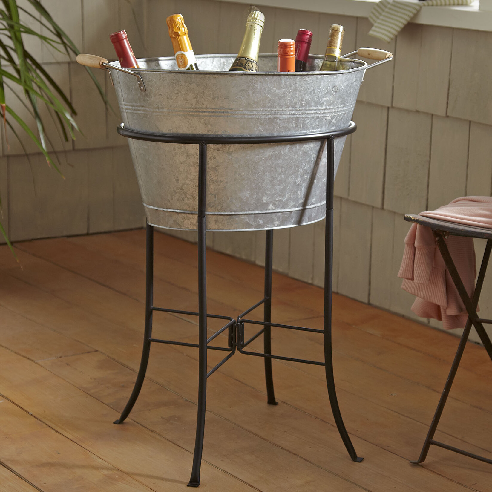 Picture of: Hoyleton Beverage Tub With Stand Reviews Birch Lane