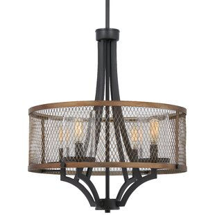 Williston Forge Croy 4-Light Drum Chandelier