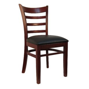 Ladder Back Solid Wood Dining Chair (Set of 2) H&D Restaurant Supply, Inc.