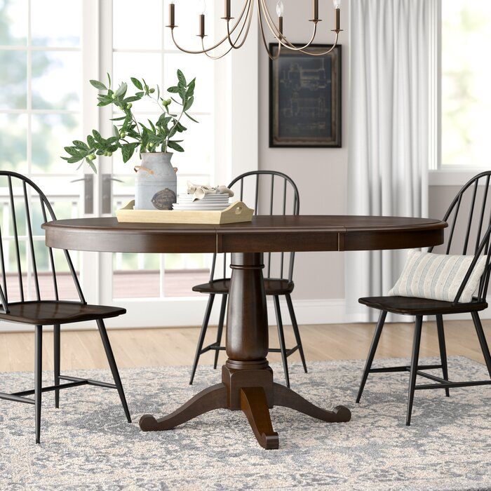 Kiantone Extendable Solid Wood Dining Table