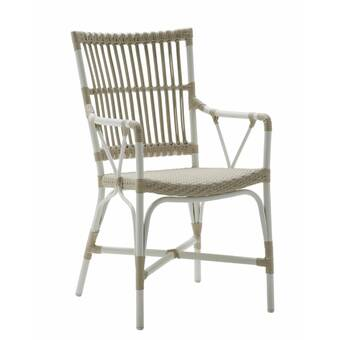 Rosecliff Heights Inispollan Open Weave Patio Dining Chair Wayfair
