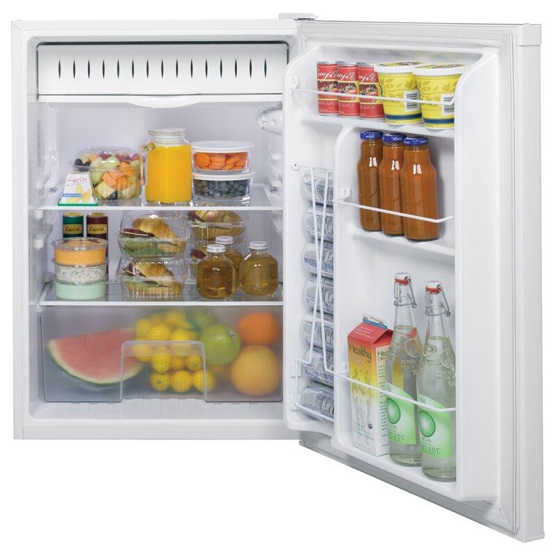 mini fridge with large freezer