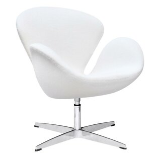 Menik Swan Swivel Lounge Chair by Orren Ellis