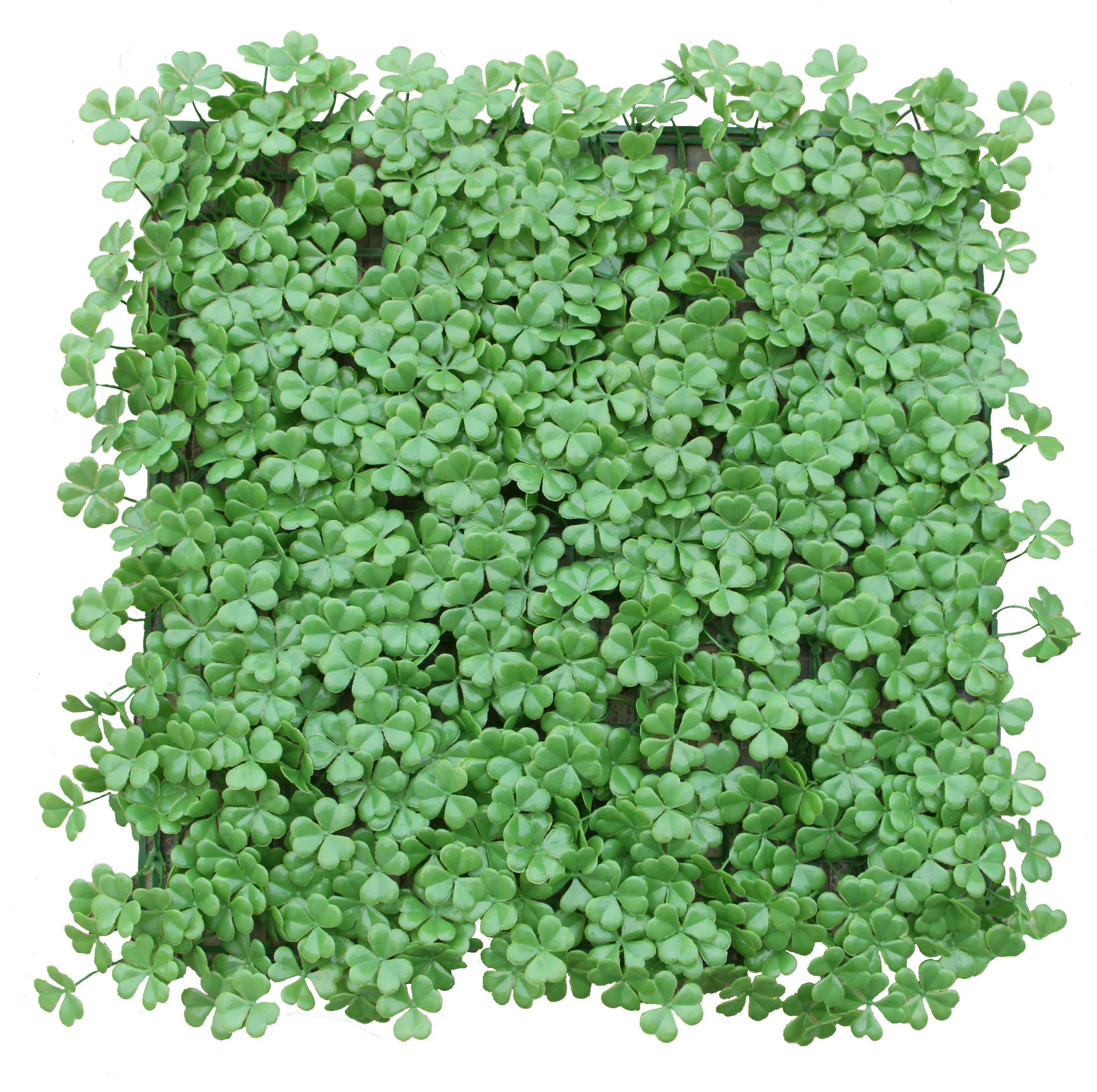 E Joy 1 7 Ft H X 1 7 Ft Wartificial Topiary Hedge Plant Artificalhedge Lucky Grass 10box Wayfair