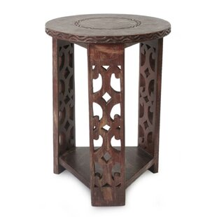 Serbelloni Strength and Humility Wood End Table by Bloomsbury Market