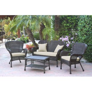 Bellas 4 Piece Sofa Set with Cushions