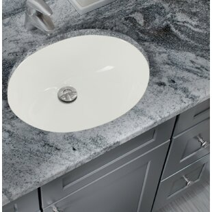 Find for Glazed Vitreous China Oval Undermount Bathroom Sink with Overflow By Cahaba
